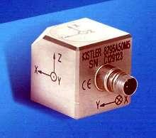 Accelerometer measures vibrations at high temperatures.