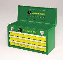Portable Tool Chest features John Deere logo.