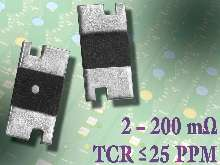 Resistors provide TCR values down to ±15 ppm/°C.