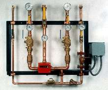 Control System regulates re-circulating system temperatures.