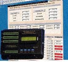 Ethernet Gateway/Data Logger monitors temperature controllers.