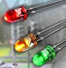 LEDs offer luminous intensity to 4,000 mcd.