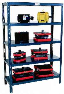 Reinforced Shelving supports heavy loads in stockrooms.