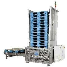 Pallet Dispenser includes PLC and HMI.