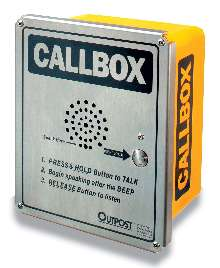 Two-Way Radio Callbox increases public safety.