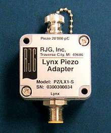 Sensor Adapter accepts inputs from any piezoelectric sensor.
