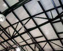 Acoustical Panels serve double function.