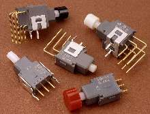 Pushbutton Switches perform PC board-level switching.