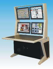 Modular Computer Furniture supports flat-screen technology.