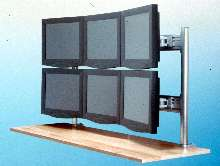 Mounting System accommodates up to 6 displays.