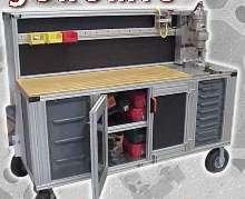 Workstations provide ergonomic adjustments.