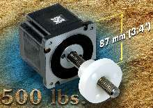 Linear Actuator features rotating lead screw design.