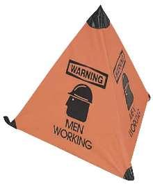 Floor Signs warn of safety hazards.