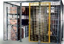 Do-It-Yourself Cages provide secure storage.