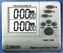 Double Display Timer is traceable to NIST standards.
