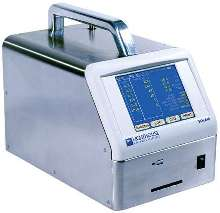 Particle Counter has dynamic range of 0.3-10.0 µm.