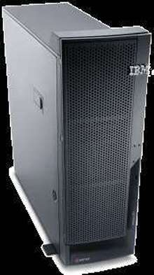Server features Intel 3.06 GHz Xeon processors.