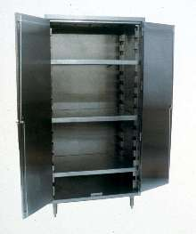 Vertical Cabinets provide corrosion-free storage of products.