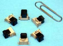 Surface-Mount Switch is alternative to shunts and jumpers.