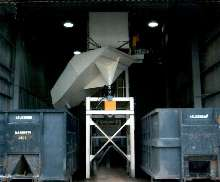 Discharge Chute distributes stamping scrap.