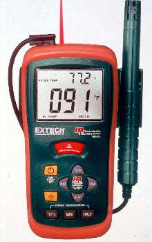 Hygro-Thermometer offers non-contact operation.