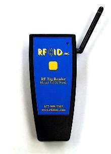 Hand Held Reader transmits read data up to 150 ft away.