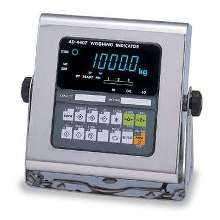 Weighing Indicator comes in wash-down, stainless steel case.