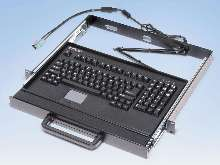Rack-Mount Keyboard incorporates 2-button touchpad.