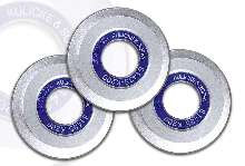 Hub Blades offer solution for dicing low-k wafers.