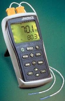 Dual-Input Thermometer stores up to 8,800 measurements.