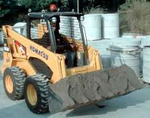 Skid Steer has rated operating load of 2,000 lbs