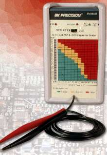 Capacitor Tester performs in-circuit ESR and DCR testing.