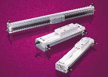 Rodless Rail Slides feature enclosed bearing system.