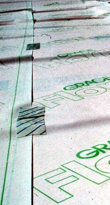 Vapor Barrier protects floor finishes from moisture damage.