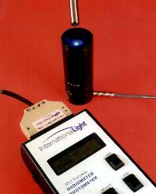 Spot Curing Radiometer measures total light pipe output.