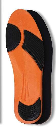 Insoles are ergonomically designed for industrial workplace.