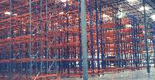 Structural Rack provides storage solution for warehouses.