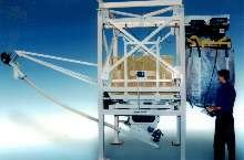 Bulk Bag Discharger fits height-restricted areas.