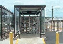 Employee/Pedestrian Passageways protect against the elements.