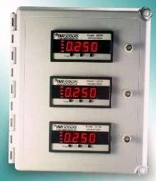 Vibration Monitors are housed in fiberglass enclosure.