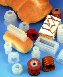 Food-Grade Suction Cups handle breads, cakes, rolls, and pies.