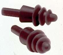 Reusable Earplugs feature triple flange design.