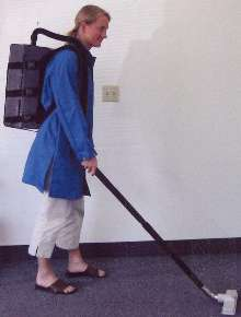 Backpack Vacuum offers HEPA filtration.