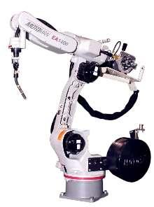 Welding Robot features internal cabling design.