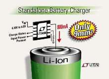 Li-Ion Battery Charger requires no external components.