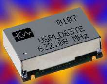 Voltage Controlled SAW Oscillator suits SONET equipment.