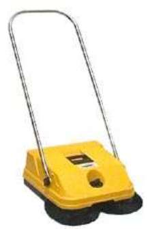 Manual Sweeper sweeps 16,125 sq ft per hour.
