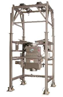 Bulk Bag Unloader features loss-in-weight batching system.