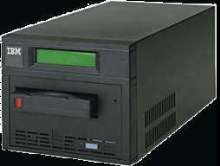Tape Drive provides up to 35 Mb/sec data transfer rate.