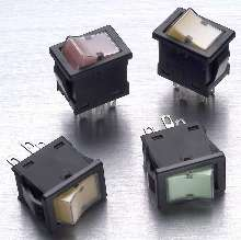 Miniature Rockers feature full-face LED illumination.